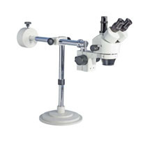 Stereo Zoom Microscope with Boom Arm