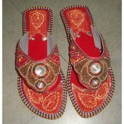 Ladies Leather Flats Slippers