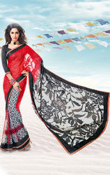 Brasso+%26+Faux+Georgette+Saree+with+Blouse
