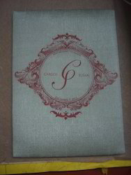 Custom Printed Fabric Covered Wedding Invitation Folios