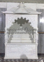 Carved White Marble Pooja Ghar