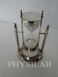 hanging sand timer shiny brass finish