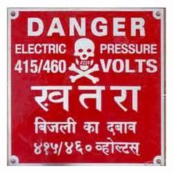 Warning Aluminum Labels