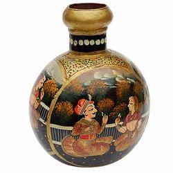 Vaah Painted Decorative Iron Pot