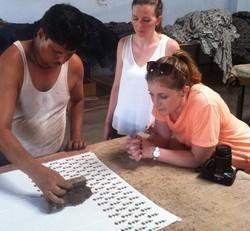Hand Block Printing Activities at Workshop