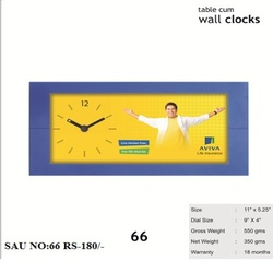 Table Cum Wall Clock