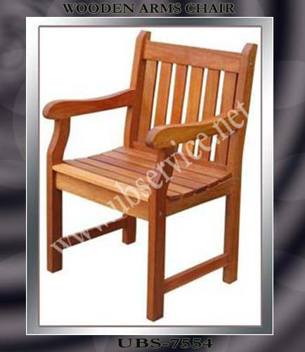 wooden chair with arms. wooden chair with arms