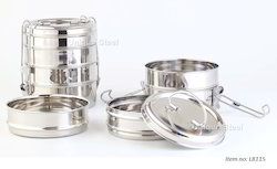 4 Layer Stainless Steel Stackable Lunch Boxes