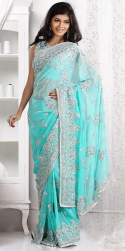 Pleasing Pearls Embellished Saree