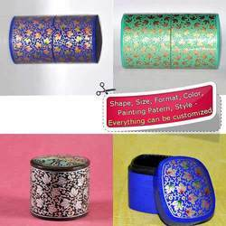 Assorted Paper Mache Hand Painted Trinket Jewelry Box