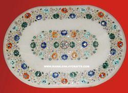 Stone Inlaid Pietra Dura Table Top
