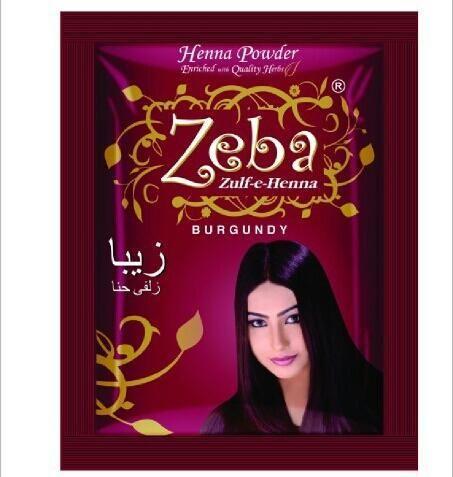 Zeba Burgundy Henna Powder