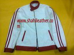 Fashionable Denim & Leather Jacket
