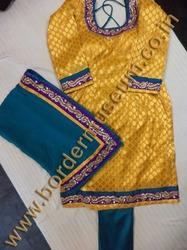 Brocade Dress with Kundan Work