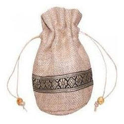 Drawstring Bag with Lace