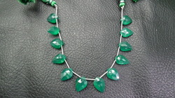 Green Onyx Faceted Leaf