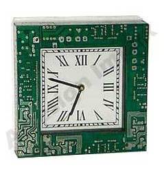 Recycled Motherboard Square Wall Clock