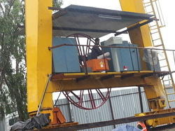 cable reeling drum for gantry or goliath cranes