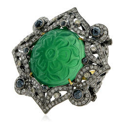 Gemstone Carved Ring Jewelry