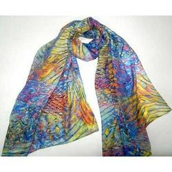 Printed Yellow Cotton Scarves