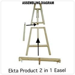 Wooden Easel Stand 2 in 1