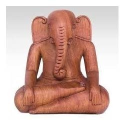 Ganesh Statue in Wood