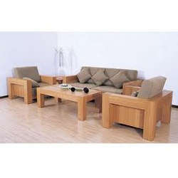 Wooden Finished Sofa Set