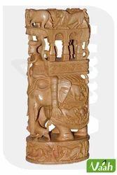 Vaah Carved Wooden Royal Ambawadi Hunter Elephant