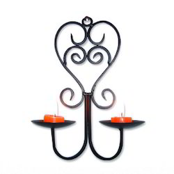 wrought iron wall sconce