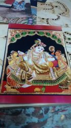 tanjore glass painting and drawing