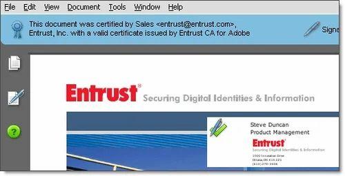 Adobe CDS & Entrust Secure Email Certificates (Enterprise ...