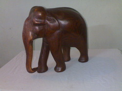 Red Sandal Elephant Statue