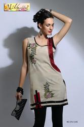 Beautiful Embroidery Cotton Kurti Tunic Party Wear