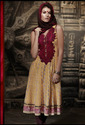 light yellow cambric cotton churidar kameez