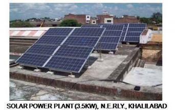 Solar Power Plant, 3.5KW, N.E. RLY, Khalilabad