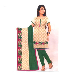 Designer Wear Pure Cotton Suit