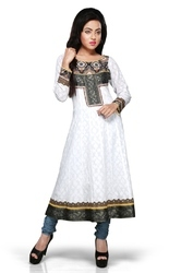 Ladies Designer Printed Designer Party Wear Long Kurti