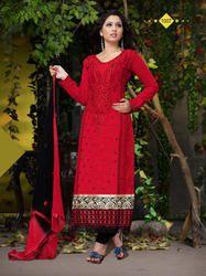 Stylish Designer Party Wear Fancy Cotton Salwar Suit