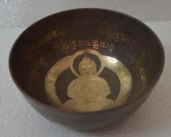 Singing Bowl With Buddha Design