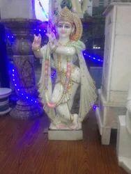 Marble Lord Krishna Idol