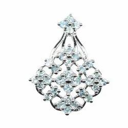 Fashionable Aquamarine Silver Pendant
