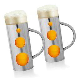 set of two beer mugs