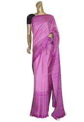 Pink Color Wedding Tussar Saree