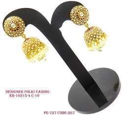 Designer Fancy Polki Earring