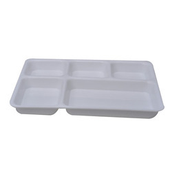 five compartment plate