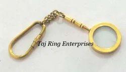 Brass Magnifying Key Chain
