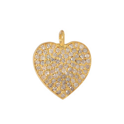 Pave Diamond Charms Pendants Jewelry