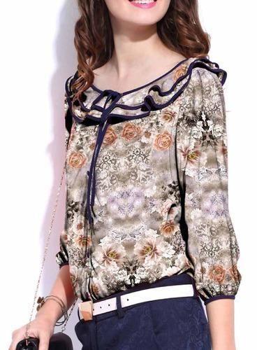 Georgette Floral Digital Beauty Top