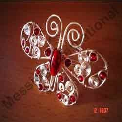 Beaded Wire Butterfly Napkin Rings
