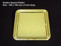 Square Platter Metalised